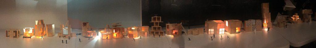 箱を作ろうワークショップ作品ライトアップ