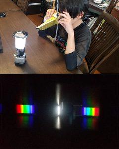 ひさき型分光器を作って光を観察しよう!
